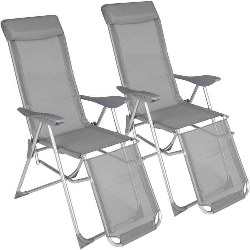 Amazing Garden Chairs Set Of 2 Jana Reclining Garden Chairs Garden Recliners Outdoor Chairs Grey Ncnpc Chair Design For Home Ncnpcorg
