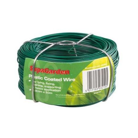 Garden Coated Wire SupaGarden Heavy Duty Plastic Coated Wire Fence Wire Plant