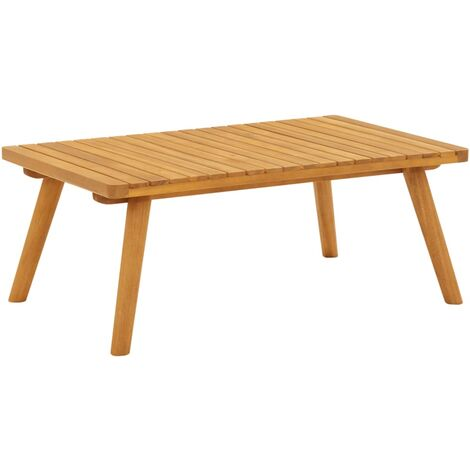 Garden Coffee Table 90x55x35 cm Solid Acacia Wood - Brown