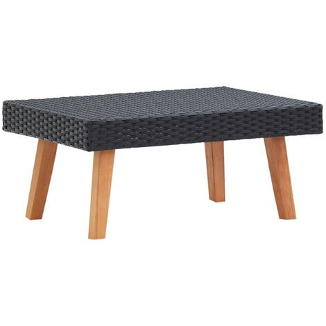 """main image of """"Garden Coffee Table Poly Rattan Black"""""""