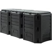 Garden Composter 380 / 800 / 1200 / 1600 Liter Compost Bin Waste Box Converter