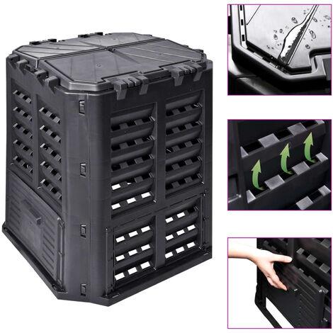 Garden Composter Black 68.9x68.9x83.9 cm 320 L