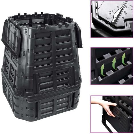 Garden Composter Black 93.3x93.3x113 cm 650 L