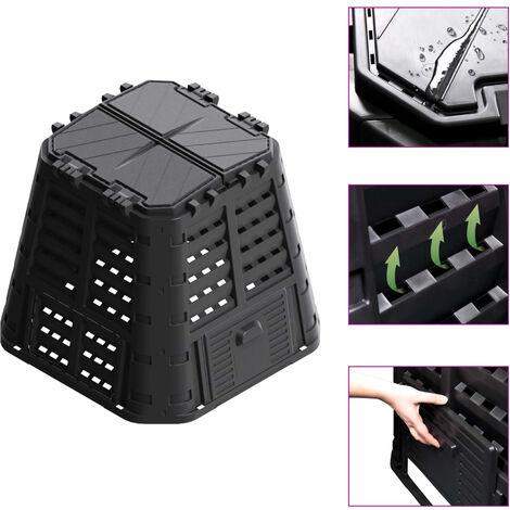 Garden Composter Black 93.3x93.3x80 cm 420 L