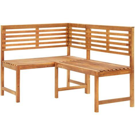 Garden Corner Bench 140 cm Solid Acacia Wood