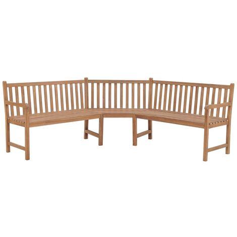 """main image of """"Garden Corner Bench 202x202x90 cm Solid Teak - Brown"""""""