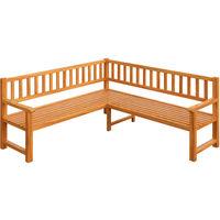 Garden Corner Bench made from Eucalyptus Wood