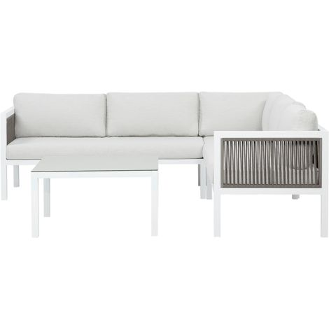 Garden Corner Sofa Set White BORELLO