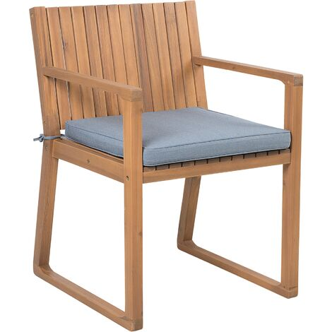 Garden Dining Chair with Cushion Blue SASSARI