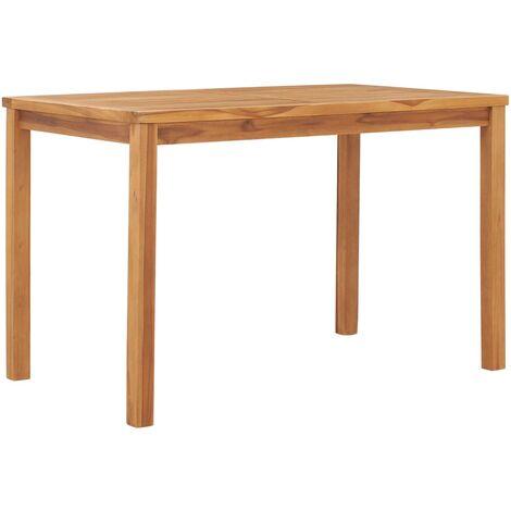 Garden Dining Table 120x70x77 cm Solid Teak Wood