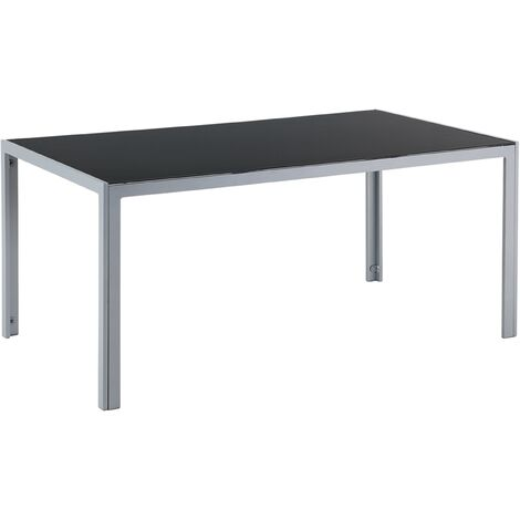 Garden Dining Table 160 x 90 cm Black CATANIA