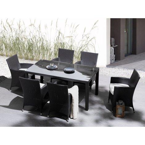 Garden Dining Table 160 x 90 cm Brown ITALY