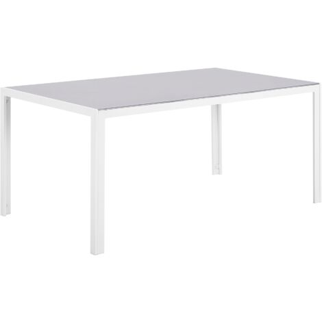 Garden Dining Table 160 x 90 cm Grey CATANIA