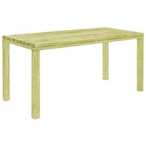 Garden Dining Table 170x75.5x77 cm Impregnated Pinewood