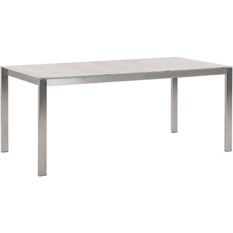 Garden Dining Table 180 x 90 cm Beige COSOLETO