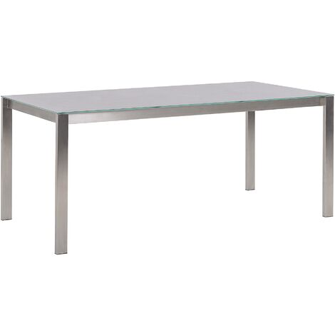 Garden Dining Table 180 x 90 cm Grey COSOLETO
