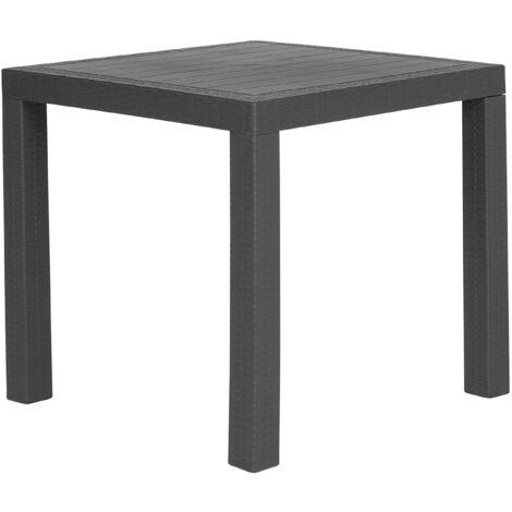 Garden Dining Table for 4 Outdoor Grey Terrace Patio Plastic Fossano