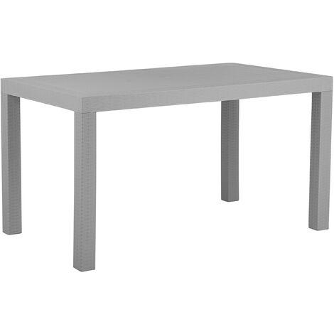 Garden Dining Table for 6 Outdoor Light Grey Terrace Patio Plastic Fossano