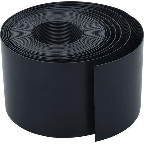 Garden Edging Black 10 m 15 cm PE