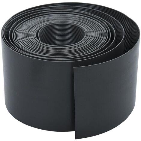 Garden Edging Grey 10 m 15 cm PE