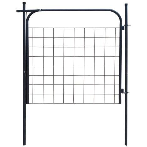 Garden Fence Gate 100x100 cm Anthracite