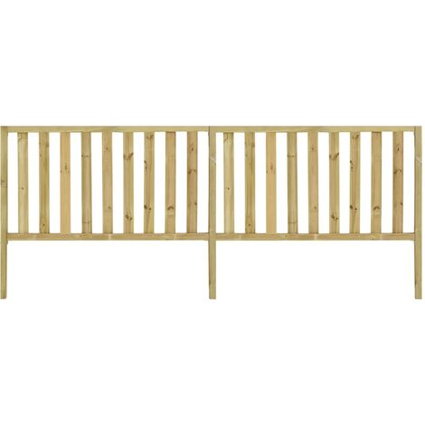 Garden Fence Impregnated Pinewood 3.58x1.5 m - Brown