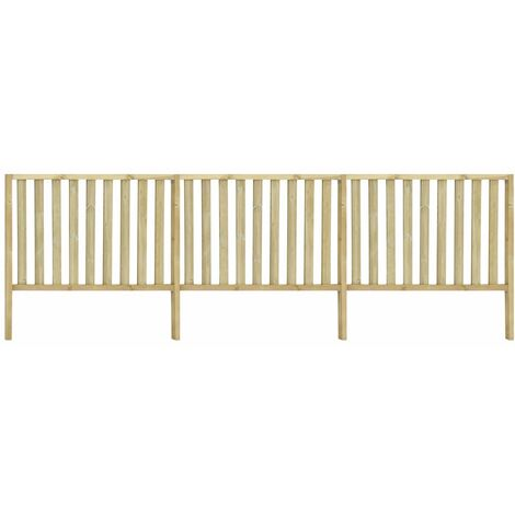 Garden Fence Impregnated Pinewood 5.34x1.7 m