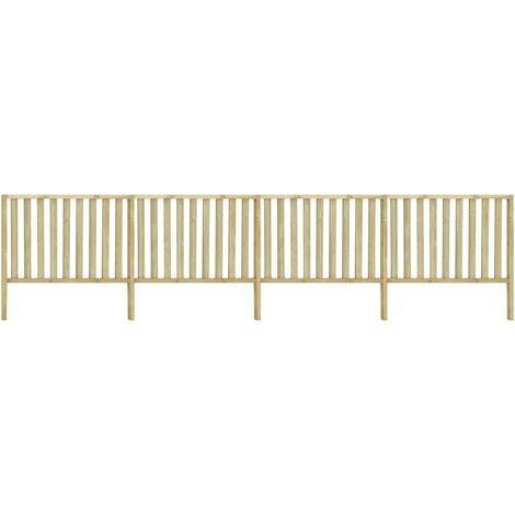Garden Fence Impregnated Pinewood 6,8x1,2 m
