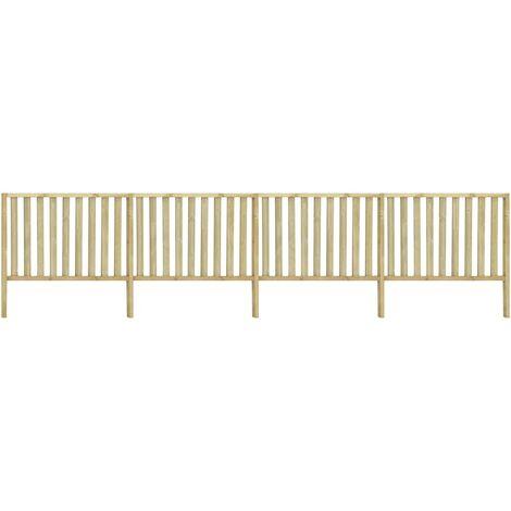 Garden Fence Impregnated Pinewood 7.1x1.7 m