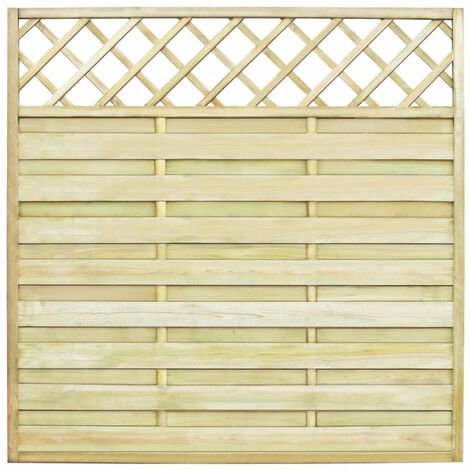 Garden Fence Panel with Trellis 180x180 cm FSC Wood Square