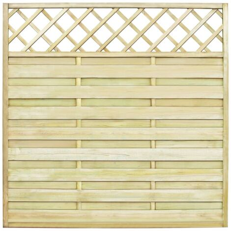 Garden Fence Panel with Trellis Wood 180x180 cm