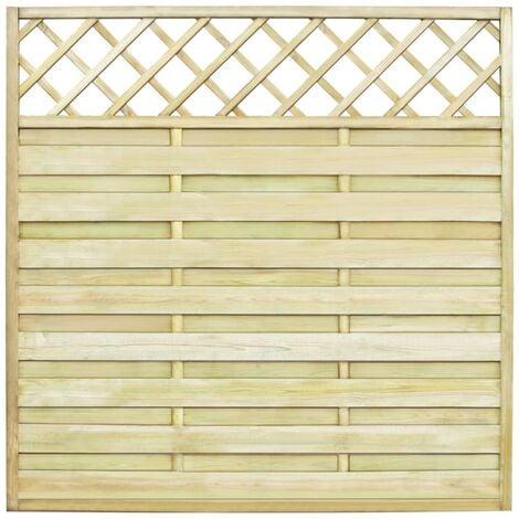 Garden Fence Panel with Trellis Wood 180x180 cm - Brown