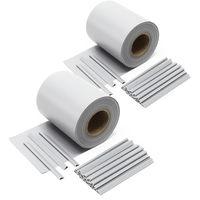 Garden Fence Roll, grey, 70mx19cm, PVC 650g/m², 40 Clips Garden Fence Roll