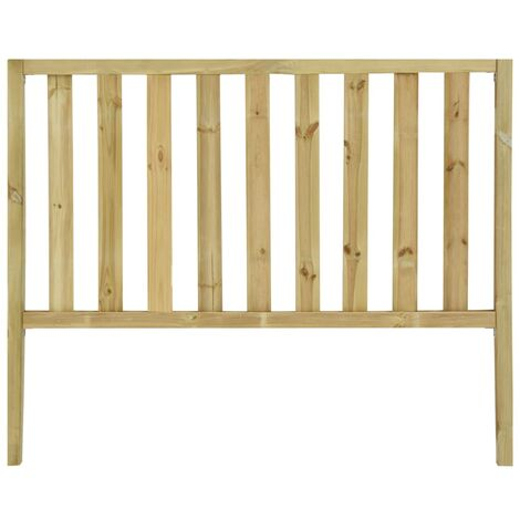 Garden Fence with 2 Posts Impregnated Pinewood 182x150 cm