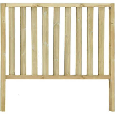 Garden Fence with 2 Posts Impregnated Pinewood 182x170 cm - Brown