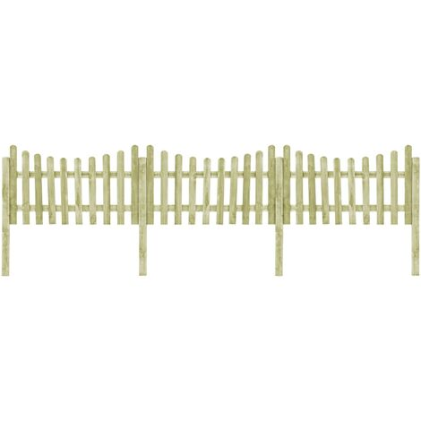 Garden Fence with 4 Posts Impregnated Pinewood 510x100 cm