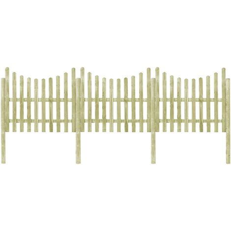 Garden Fence with 4 Posts Impregnated Pinewood 510x150 cm