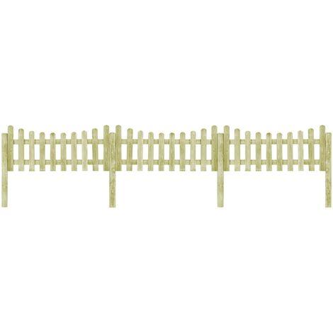 Garden Fence with 4 Posts Impregnated Pinewood 510x60 cm
