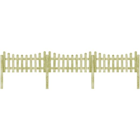 Garden Fence with 4 Posts Impregnated Pinewood 510x80 cm