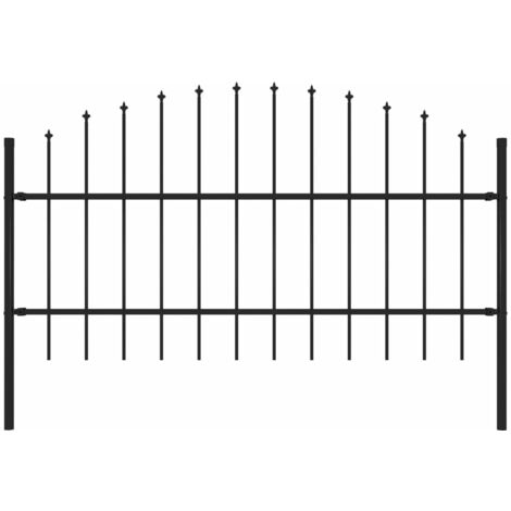Garden Fence with Spear Top Steel