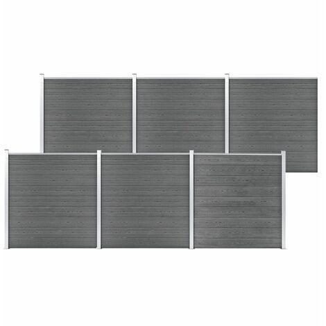 Garden Fence WPC 1045x186 cm Grey