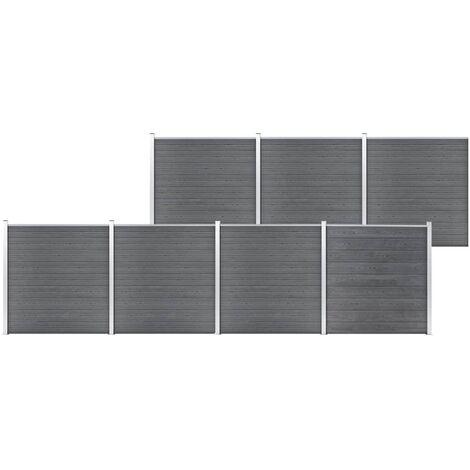 Garden Fence WPC 1218x186 cm Grey