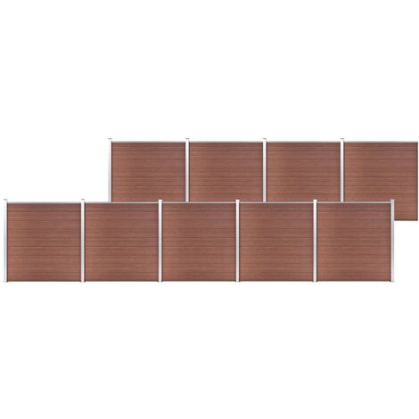 Garden Fence WPC 1564x186 cm Brown