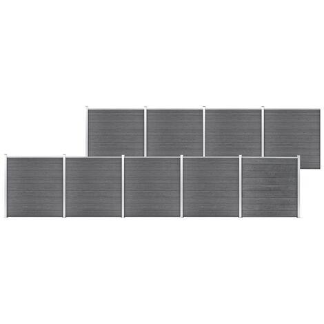 Garden Fence WPC 1564x186 cm Grey