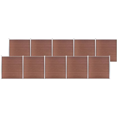 Garden Fence WPC 1737x186 cm Brown