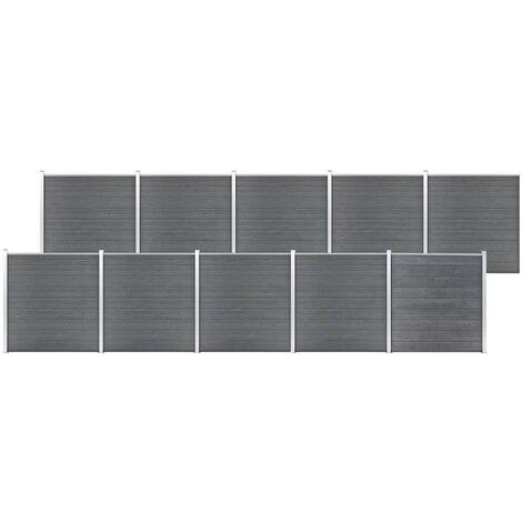 Garden Fence WPC 1737x186 cm Grey