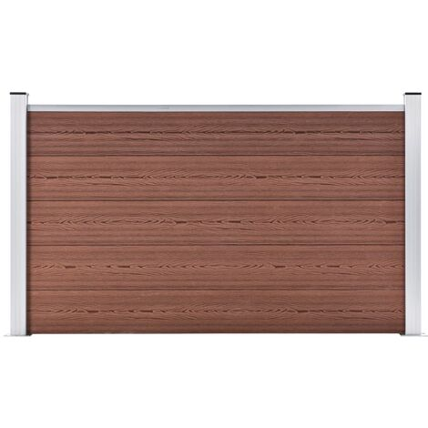 Garden Fence WPC 180x105 cm Brown