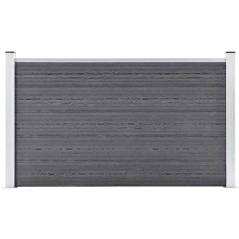 Garden Fence WPC 180x105 cm Grey