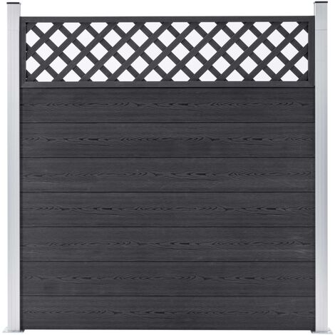 Garden Fence WPC 180x185 cm Grey