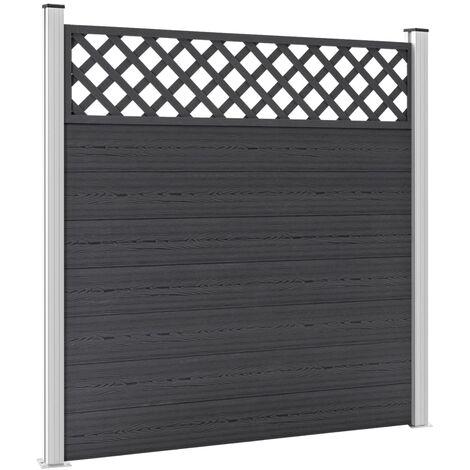 Garden Fence WPC 180x185 cm Grey - Grey